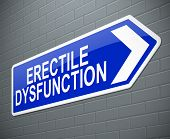 foto of erectile dysfunction  - Illustration depicting a sign with an erectile dysfunction concept - JPG