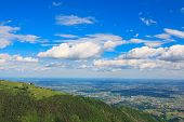 pic of italian alps  - Mountain landscape from Monte grappa Italy Italian alps - JPG