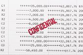 picture of statements  - confidential content stamped on the bank statement - JPG