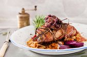 stock photo of roast duck  - roast duck - JPG