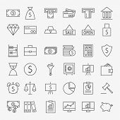 picture of money  - Line Banking Money and Finance Icons Big Set - JPG