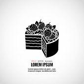 picture of food logo  - Dessert cakes bakery logo - JPG