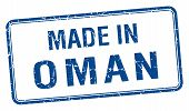 foto of oman  - made in Oman blue square isolated stamp - JPG