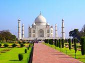 picture of mausoleum  - Taj Mahal mausoleum in Agra - JPG