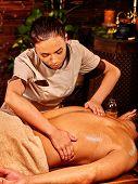 stock photo of panchakarma  - Man  having oil Ayurveda spa treatment - JPG