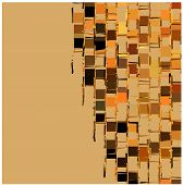 picture of fragmentation  - abstract fragmented backdrop pattern in orange beige - JPG