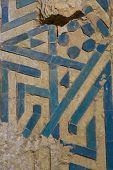 picture of mausoleum  - decorative detail in the 14th century Oljeitu mausoleum in Soltaniyeh - JPG
