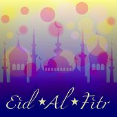 picture of eid al adha  - Card with mosque in darkness for congratulations with beginning of fasting month of Ramadan as well with Islamic holiday Eid al - JPG