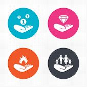 stock photo of fire insurance  - Circle buttons - JPG