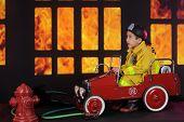stock photo of fireman  - A preschool  - JPG