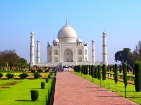 picture of mumtaj  - Taj Mahal mausoleum in Agra - JPG