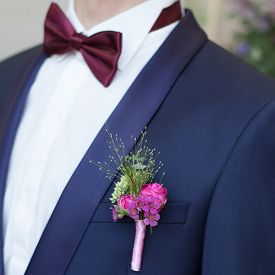 picture of lapel  - groom boutonniere buttonhole lapel groomsman flower wedding - JPG