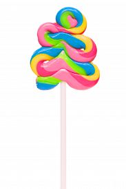 pic of lollipops  - Lollipop candy isolated on white background - JPG