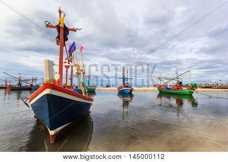 Fishing village and sunshine day at Hua Hin Prachuapkhirikhan Thailand