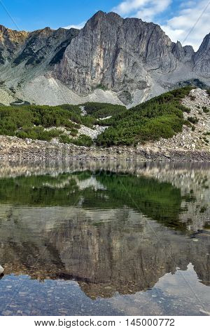 Amazing landscape of Sinanitsa Peak and lake, Pirin Mountain, Bulgaria