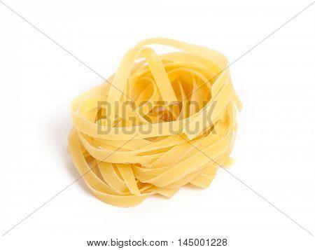 Pasta nest isolated on white background