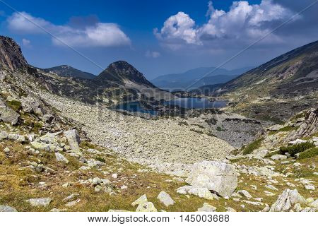 Amazing panorama of Gergiyski lakes,  Pirin Mountain, Bulgaria