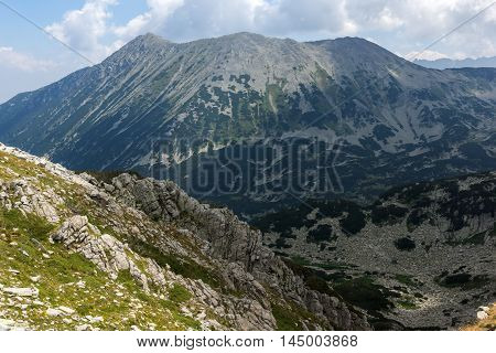 View From Banderitsa pass to Todorka peak,  Pirin Mountain, Bulgaria