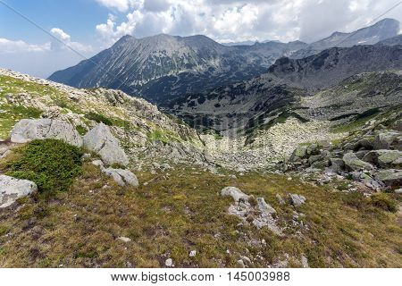 Panorama from Banderitsa pass to Todorka peak,  Pirin Mountain, Bulgaria