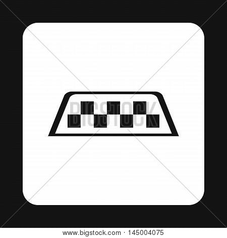 Checker taxi icon in simple style isolated on white background. Transportation symbol