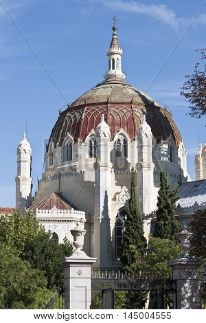 Church of San Manuel y San Benito, in Madrid, Spain. It is a good example of Byzantine Revival architecture