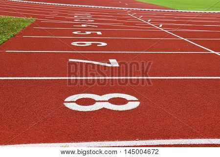 Start running track. Atletick start running track.
