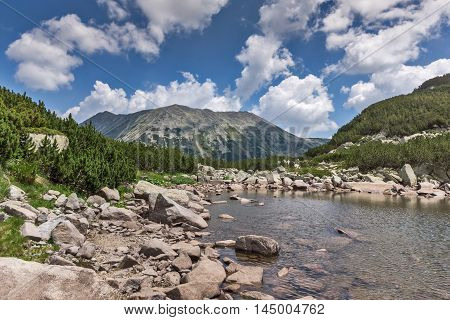 Upper Muratovo lake and Todorka peak, Pirin Mountain, Bulgaria
