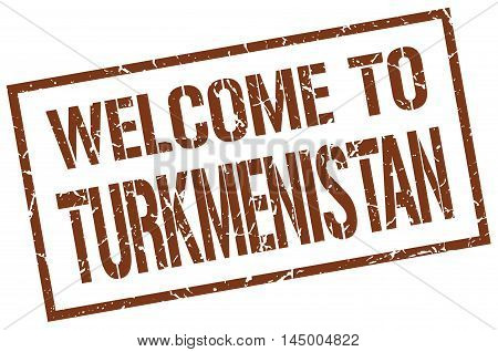 welcome to Turkmenistan. stamp. grunge square sign