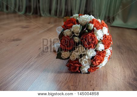 Beautiful Red Wedding Bouquet For The Bride