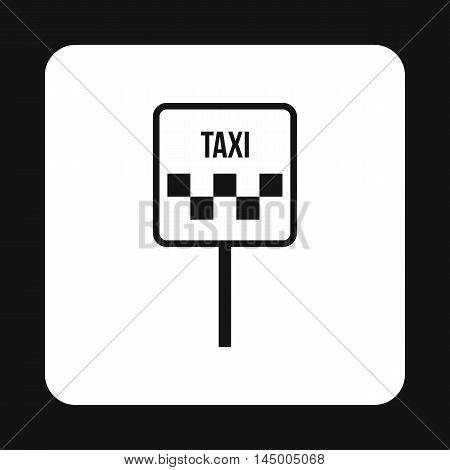 Sign taxi icon in simple style isolated on white background. Car symbol