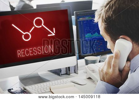 Bankruptcy Critical Recession Inflation Graphic Concept