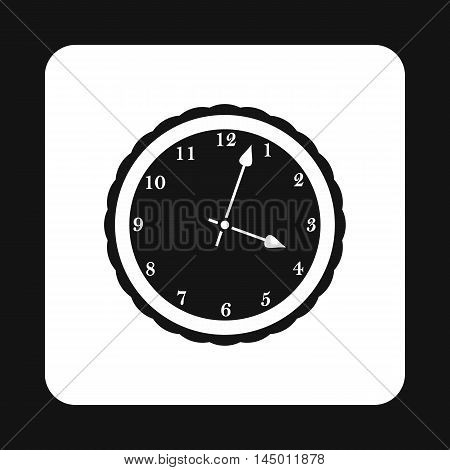Round mechanical watch icon in simple style isolated on white background. Time symbol