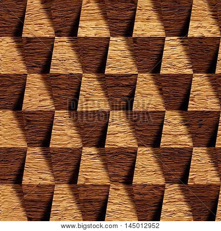 Wooden blocks stacked for seamless background oak veneer