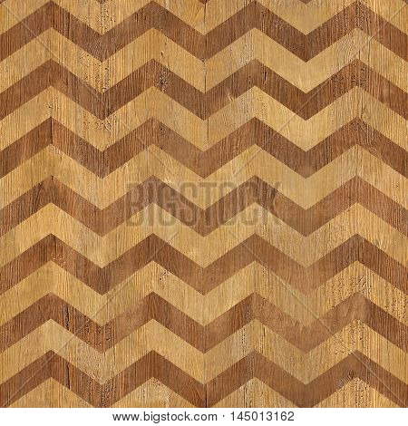 vintage zig zag pattern - seamless background - wooden surface