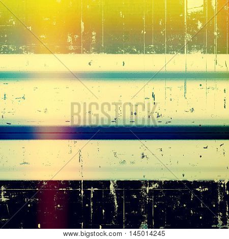 Retro style background with grungy vintage texture and different color patterns: green; blue; purple (violet); yellow (beige); cyan; black