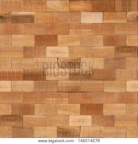 Wooden blocks stacked for seamless background - Decorative textures