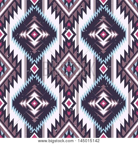 pastel multicolor tribal Navajo vector seamless pattern. aztec fancy abstract geometric art print. ethnic vector background. Wallpaper, cloth design, fabric, paper, cover, textile, weave, wrapping.