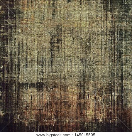 Grunge background with delicate aged texture. Antique backdrop with retro vintage elements and different color patterns: gray; yellow (beige); brown; black