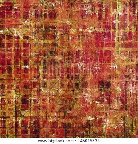 Scratched vintage colorful background, designed grunge texture. With different color patterns: red (orange); yellow (beige); brown; pink