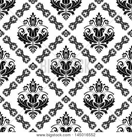 Damask vector classic pattern. Seamless abstract background with repeating elements