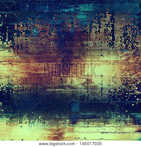 Grunge background for a creative vintage style poster. With different color patterns: blue; purple (violet); yellow (beige); brown; cyan; pink