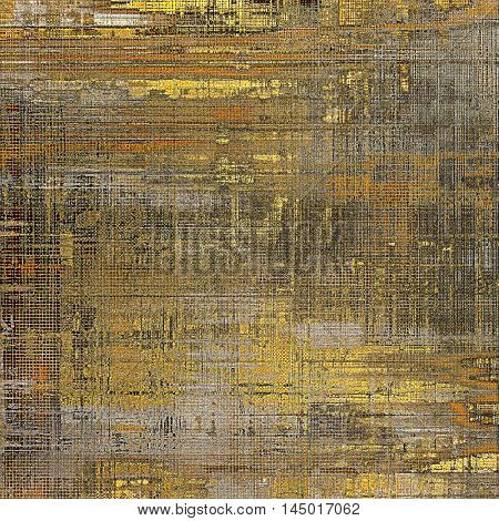 Damaged retro texture with grunge style elements and different color patterns: gray; red (orange); yellow (beige); brown; black