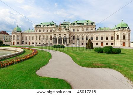 Vienna capital of a Europe country Austria. Belvedere Palace