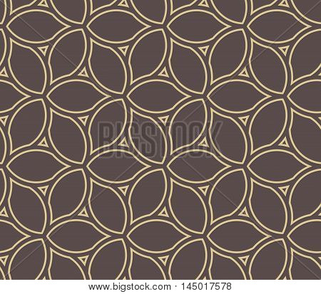 Seamless vector gold ornament. Modern geometric pattern with repeating elements