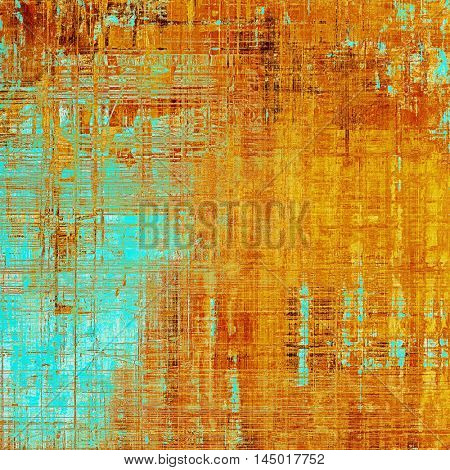 Art graphic texture for grunge abstract background. Aged colorful backdrop with different color patterns: blue; red (orange); yellow (beige); brown; cyan