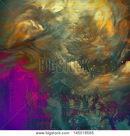 Retro design on grunge background or aged faded texture. With different color patterns: green; blue; red (orange); purple (violet); yellow (beige); brown