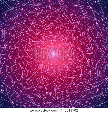 Abstract futuristic cyberspace with mesh.Space background for businessweb design print or presentation.