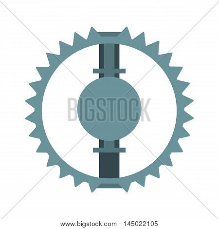 Open metal animal trap. Bear or hunting trap. Flat isolated icon. Vector illustration