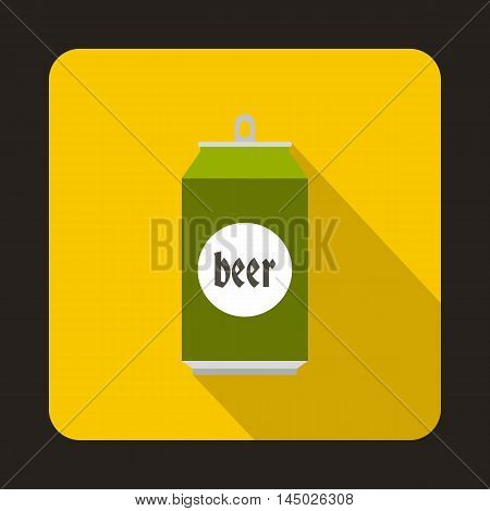 Beer can icon in flat style isolated with long shadow