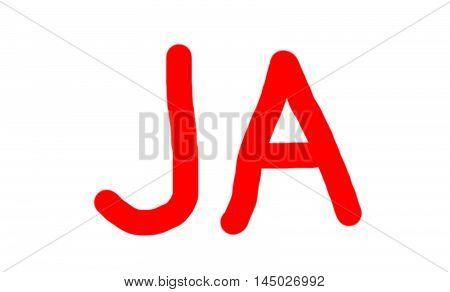 Red Ja (yes) Word